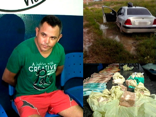 Carlos Cantanhede, carro, dinheiro e drogas